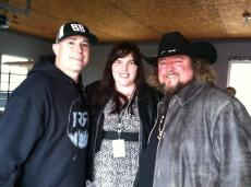 Bubba Sparxxx and Colt Ford on the set of their music video