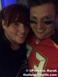 Me and my favorite football player :)